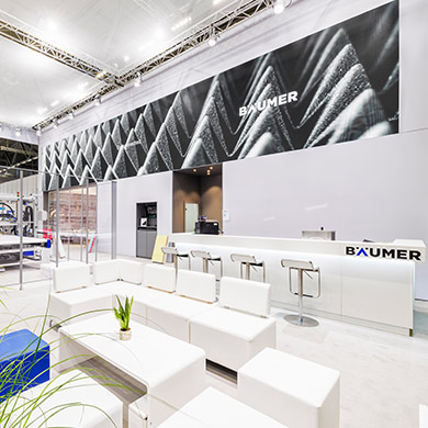 Bäumer - contemporary trade fair exhibit stand architecture and an innovative communication concept