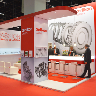 OERLIKON- the passion for surface coating meets passion for creative trade fair construction.