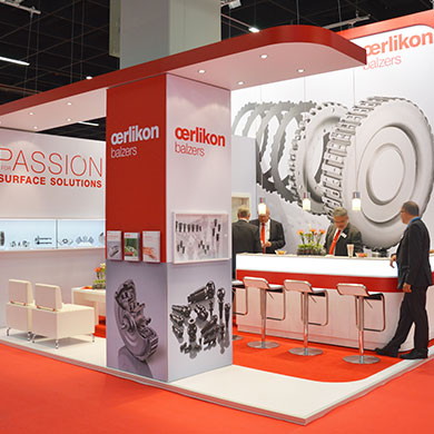 Oerlikon - the passion for surface coatings meets passion for creative trade fair construction